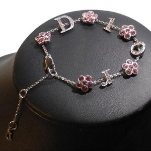 Dior Fancy Silver Purple Swarovski Bracelet Small